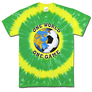 Brazil World Cup Soccer One World Tie Dye T-Shirt