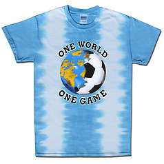 Argentina World Cup Soccer One World Tie Dye T-Shirt