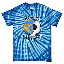 Italy World Cup Soccer One World Tie Dye T-Shirt
