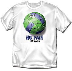 Coed Sportswear Youth Volleyball T-Shirt: No Pain No Game
