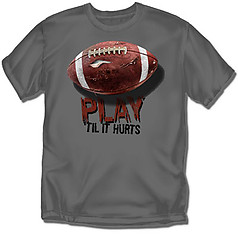 Coed Sportswear Youth Football T-Shirt: Til It Hurts