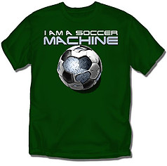 Coed Sportswear Youth Soccer T-Shirt: Soccer Machine