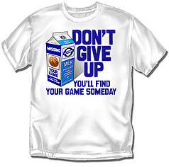 Coed Sportswear Youth Basketball T-Shirt: Milk Carton