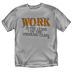 Coed Sportswear Drinking T-Shirt: Curse of Drinking Class