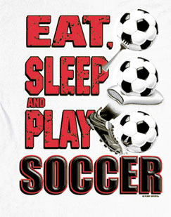 Long Sleeve Soccer T-Shirt: Eat Sleep Soccer