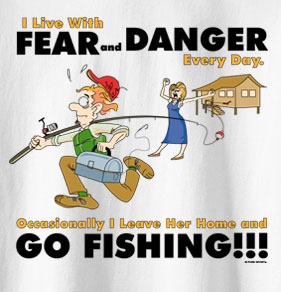 Pure Sport Fishing T-Shirt: Fear and Danger