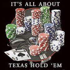 Coed Sportswear Poker T-Shirt: All About Texas Hold 'Em