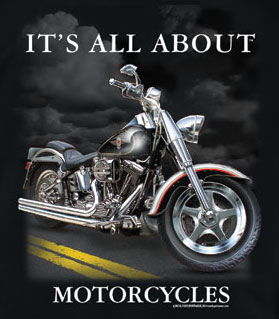 Biker T-Shirt: It's All About Motorcycles