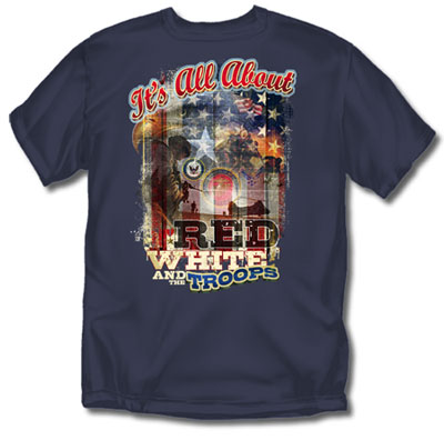 Coed Sportswear Military T-Shirt: All About Troops Retro