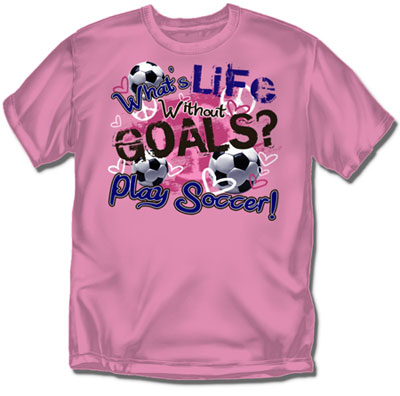 Coed Sportswear Youth Soccer T-Shirt: What is Life Soccer