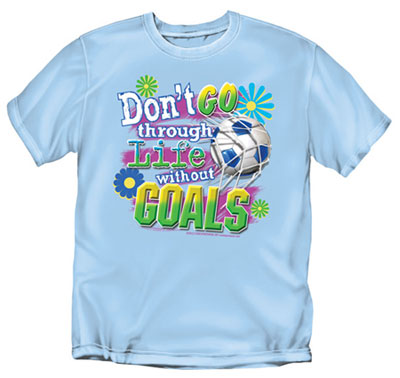 Coed Sportswear Youth Soccer T-Shirt: Goals Soccer