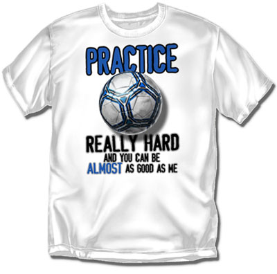 Coed Sportswear Youth Soccer T-Shirt: Practice Hard Soccer